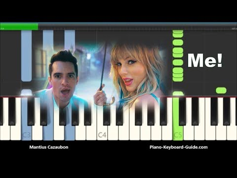 Taylor Swift - ME! ft. Brendon Urie Piano Tutorial - Chords & Melody thumbnail