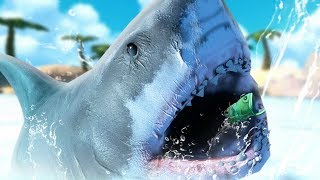 GIANT GREAT WHITE SHARK - Feed and Grow Fish - Part 61  Pungence