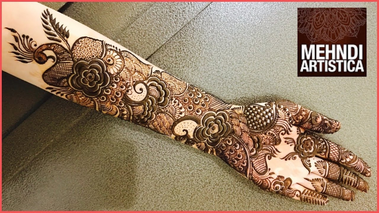 Mehndi Bridal Mehndi Design : Full hand best arabic bridal mehndi design ever floral henna