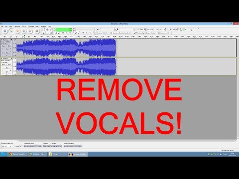 How to remove vocals from mp3 file with Audacity - tutorial