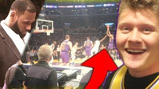 Knicks Beat Lakers with Knicks Fan Who Sold Fandom on Ebay! *SALTY*