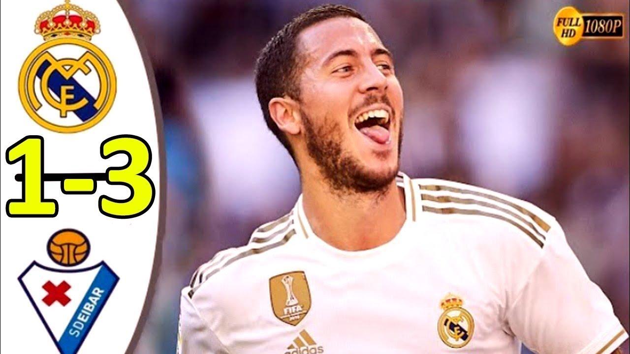 ملخص مباراة ريال مدريد وايبار 3-1 تالق الريال - جنون حفيظ دراجي