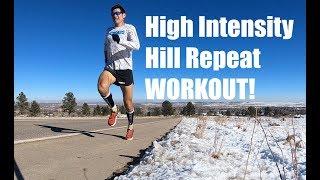 High Intensity Hill Repeat Speed Workout! Sage Running Marathon-Ultra Training VOG