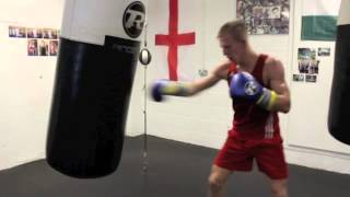 TED CHEESEMAN WORKS THE HEAVYBAG AHEAD OF HIGHLY ANTICIPATED PRO-DEBUT ON SEPT 12 @ 02 ARENA