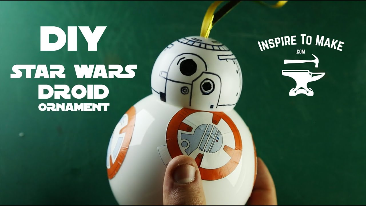 Star Wars the force awakens bb-8 droid Christmas Ornament - YouTube