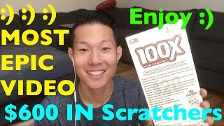 Repeat youtube video $600 IN 100X THE MONEY SCRATCHERS ENTIRE ROLL!! $20 California Lottery Scratcher GROUP BUY