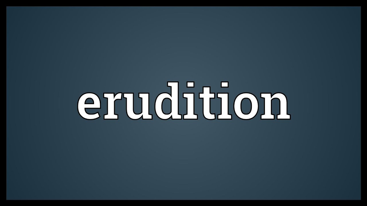 What is erudition 41