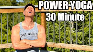 30 Minute Full Body Power Yoga Workout (Strength & Tone) Sean Vigue Fitness