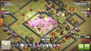 Clash Of Clans - PT De Cv10 Em Cv11 Utilizando, Magos, Valquírias, Lançadores e Queen Walk