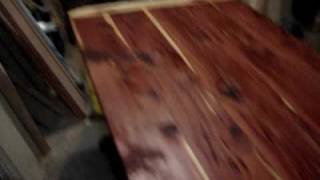 Handmade Trestle Cedar Table