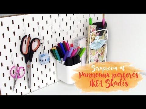 Scraproom Panneaux Perforés Ikea Skadis Pnixie Youtube