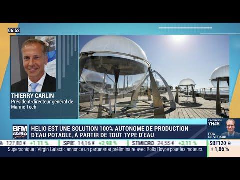 Thierry Carlin (Marine Tech) : Helio, une solution 100% autonome de production d'eau potable