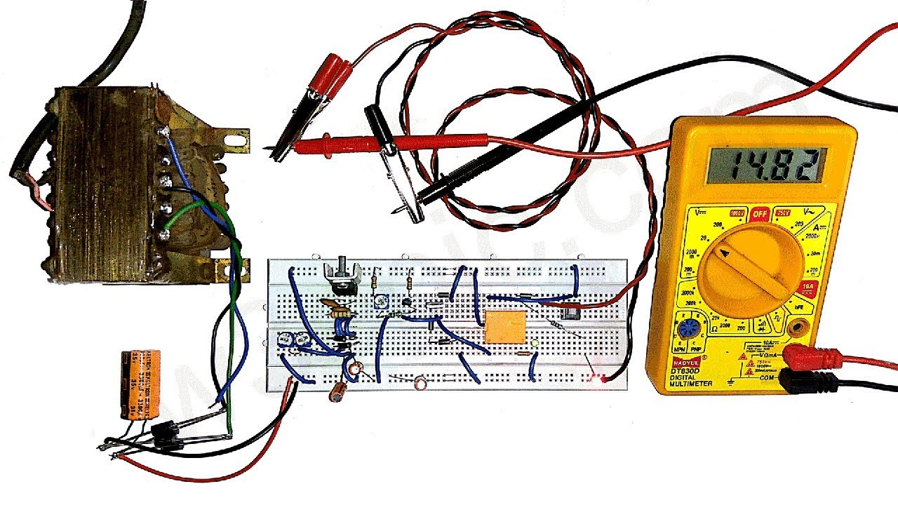 diy universal battery charger circuit with variable auto cut off voltage w3epic [ 1280 x 720 Pixel ]
