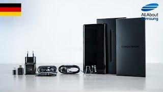 Samsung Galaxy Note9 Unboxing, Lieferumfang und Einrichtung deutsch 4k