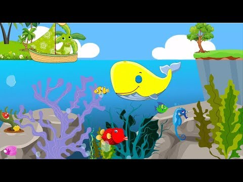 Learn Colors with JustBaby FUNNY WHALE | CROCODILE | BOAT | DINOSAUR & STARS #2