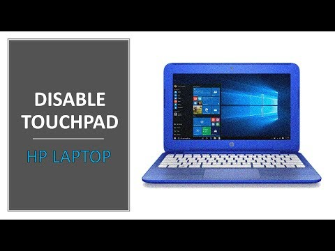 How To Disable Touchpad On HP Laptop