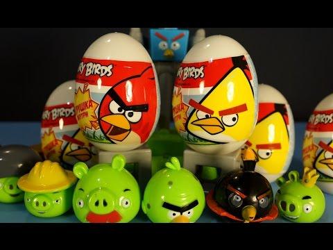Киндер Сюрприз Энгри Бёрдс на русском. Игрушки Энгри Бёрдс. Kinder Surprise Angry Birds Toys