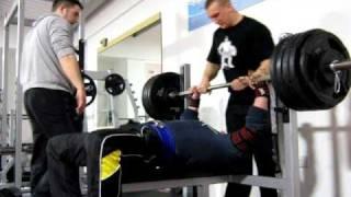 215 kg/475 lb raw bench press @ 115kg/245lb Slawek Kochan, Grants Gym 2
