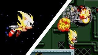 Super Sonic in Sonic 1 | Sonic Hacks ❄ Walkthrough