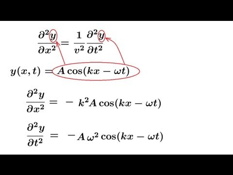 Physics - Mechanics: Mechanical Waves (10 of 21) The Wave Equation in 1-Dimension