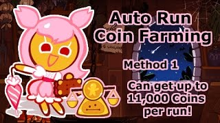 Cookie Run - Auto Coin Farming. Method 1. (Can get in between 7000 and 11000 Coins!)