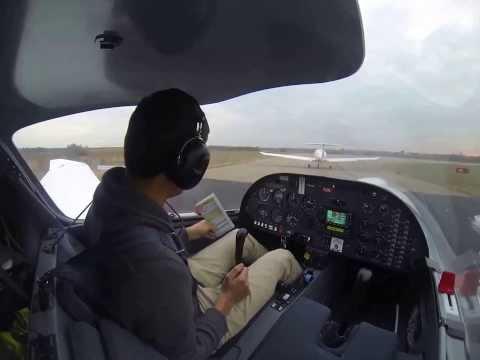 First solo flight in DA20 - Montpellier, France (LFMT) - FULL FLIGHT