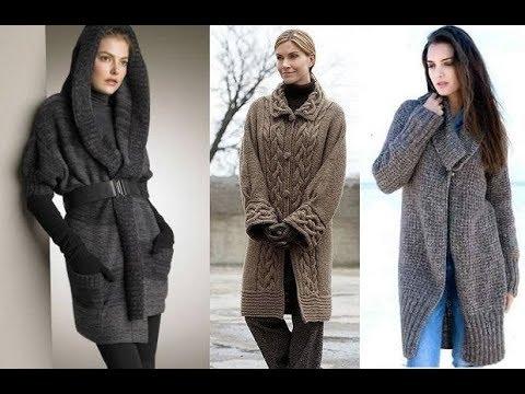 Длинный Вязаный Кардиган Спицами 2019 / Long Knitted Cardigan Knitting Needles / Lange Strickjacke