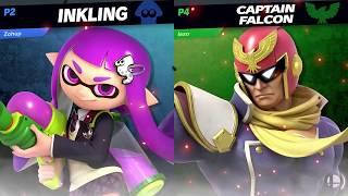 INKLING VS CAPTAIN FALCON - Super Smash Bros. Ultimate Gameplay Nintendo Switch スマブラSP HD
