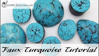 Polymer Clay Faux Technique: Faux Turquoise Tutorial