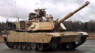 M1A2エイブラムス戦車 主砲旋回・自動追尾 デモンストレーション