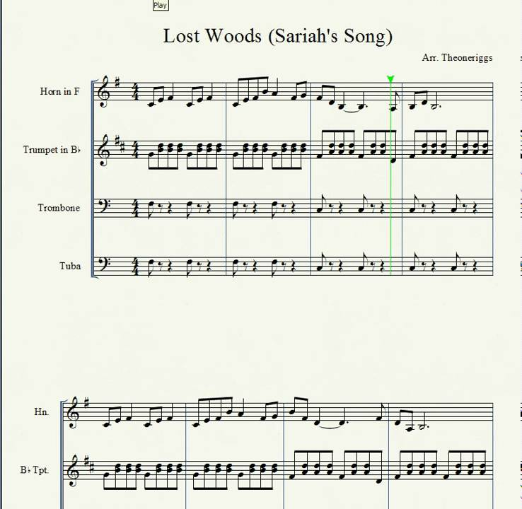 All Music Chords free french horn sheet music : Saria's Song (Lost Woods theme) - YouTube