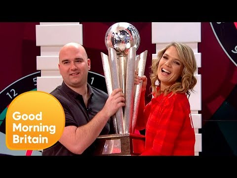 World Darts Champion Rob Cross Goes Head-to-Head With Charlotte Hawkins! | Good Morning Britain