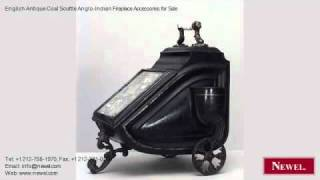 English Antique Coal Scuttle Anglo-Indian Fireplace Accessor