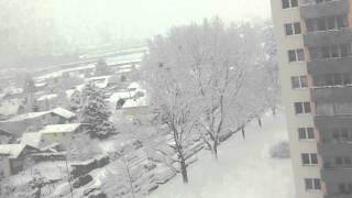 Wetter Schnee Schnee Schnee in 1110 Wien Simmering