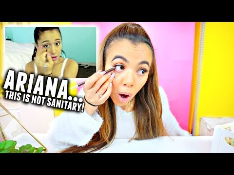 I Tried Following An Ariana Grande Makeup Tutorial I donut know how to do makeup😂