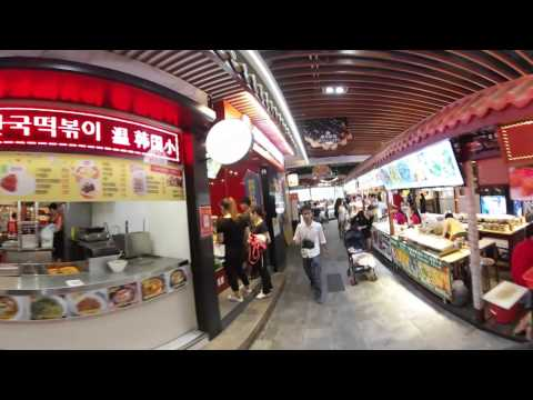 Gear 360: Walking around Dongmen Shopping District in Shenzhen China