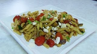 Quick Zucchini & Cherry Tomatoes Pasta Salad video recipe by Bhavna - Lunch box recipe