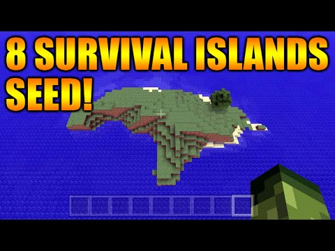 ★Minecraft Xbox 360 + PS3: TU30 The Best Survival Island Seed - 8 Different Islands (NEW Seed)★