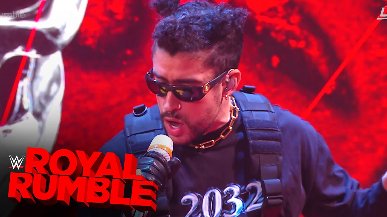 "Bad Bunny performs ""Booker T"" at Royal Rumble: Royal Rumble 2021 (WWE Network Exclusive)"