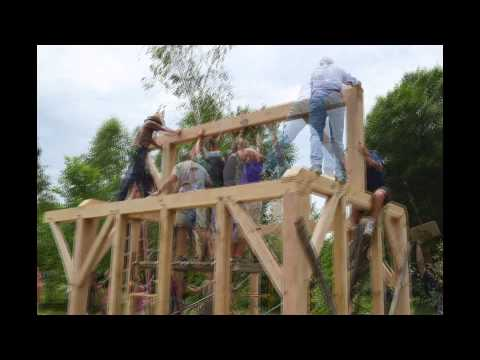 Timber Frame Greenhouse Raising Charlotte, Vermont