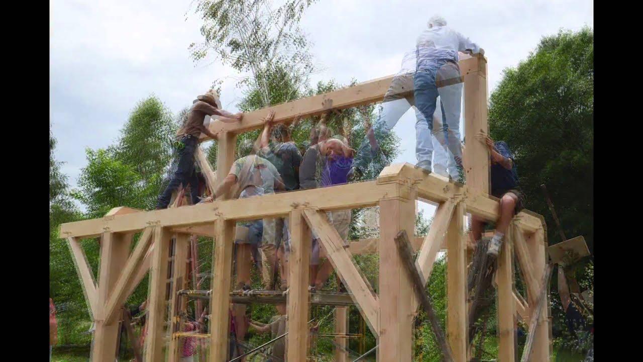 timber frame greenhouse raising charlotte vermont youtube
