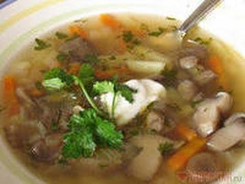 Рецепт мужского грибного супа