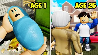 He Adopted A Lost Baby... He Changed His Life! A Roblox Movie (Story)