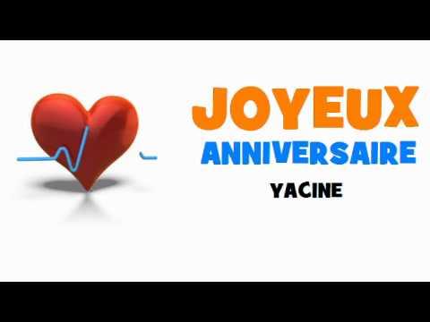 Joyeux Anniversaire Yacine Youtube