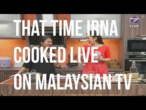 That time Irna cooked Gulai Ayam Johor live on Malaysian TV