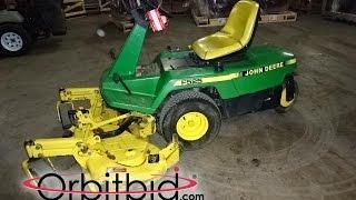 "John Deere, model F525, 48"" front deck zero turn mower   For Sale   Online Auction"