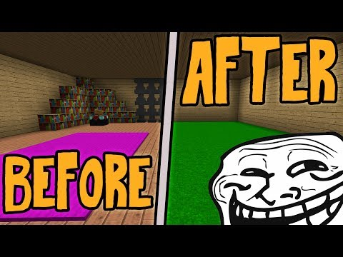 SLOWLY EMPTYING A PLAYERS HOUSE TILL HE NOTICES (Minecraft Trolling)