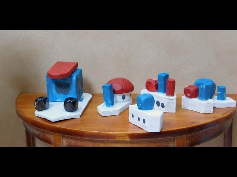 Dollhouse Miniature Toy Boats