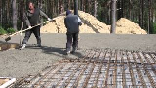 Перекрытие по профлисту. Заливка бетона 2(, 2015-06-11T21:46:11.000Z)