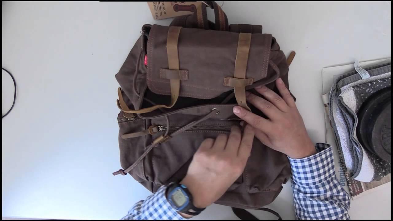 14e9e3c07e76 Rucksack - Canvas Rucksack - Bestope - YouTube